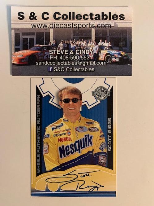 2002 Autographed Wheels Authentic / Scott Riggs  Box# EE