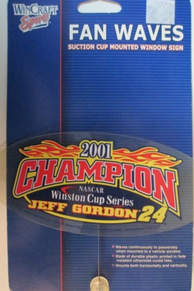 2001 Champion Fan Waves / Jeff Gordon