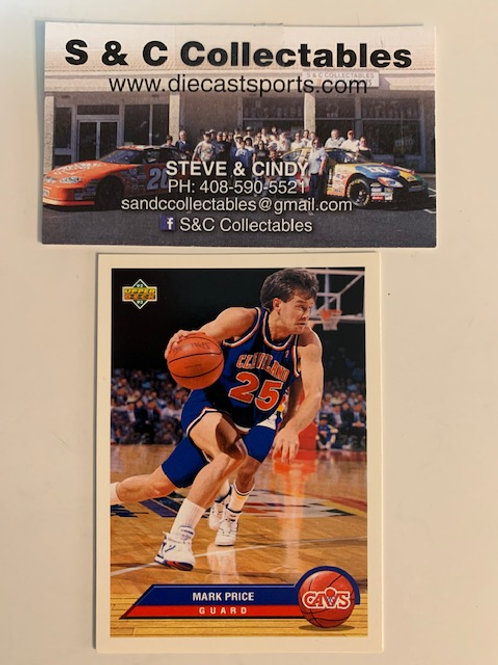 1992-93  Upper Deck Mark Price Guard Card# P8  / Basketball--BK1