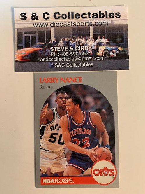 1990-91 NBA Hoops Larry Nance Forward  Card# 78 / Basketball-BK1