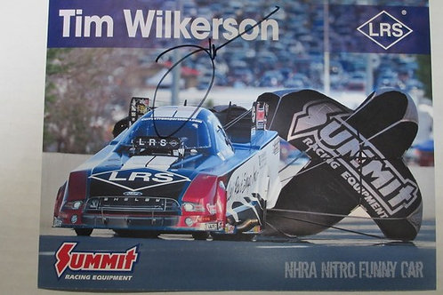 2017  Autographed LRS - Summit Racing Funny Car  #1 / Tim Wilkerson