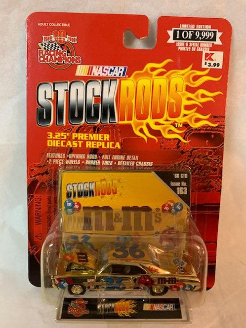 1999 M&M's 1966 GTO  Gold Stock Rods / Ernie Irvan 1:64 Box#14