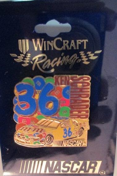 2002 Big #36 M&M's Hat Pins / Ken Schrader  Hat Pin #1