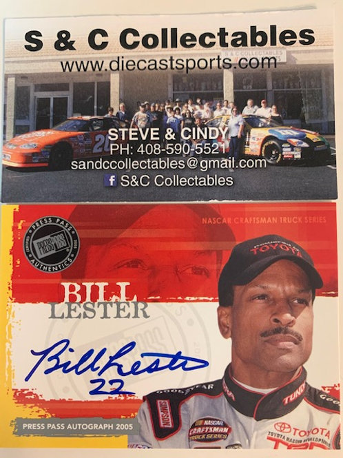 2004 Autograph Press Pass Signings / Bill Lester Cards