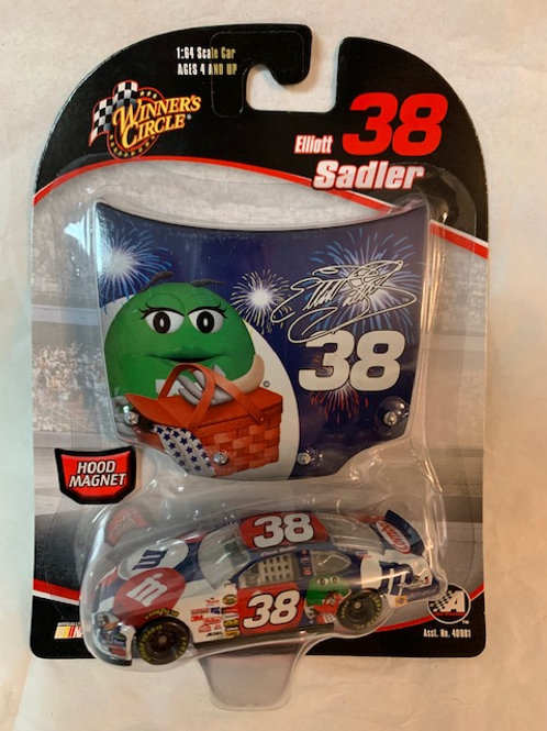 2006 M&M's 4th of July with Hood Magnet / Elliott Sadler 1:64 Box#14