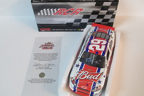2011 Autographed  Budweiser 4th of July  / Kevin Harvick 1:24  Wall