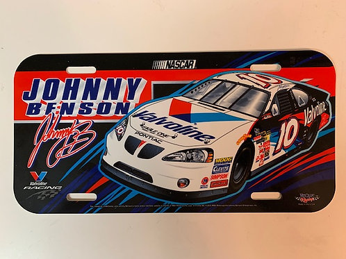 2003 Valvoline License Plate /Johnny Benson Box# 95