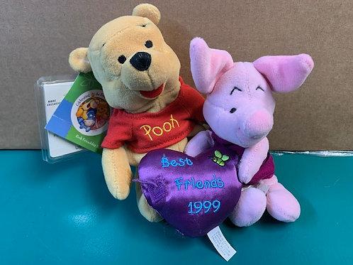 Disney Beanies Winnie the Pooh & Piglet Friendship-Best Friends 1999