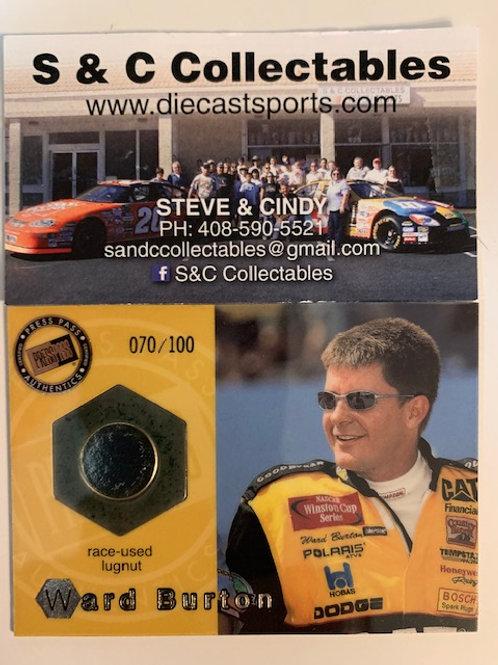 2001 Race-Used Piece of Lugnut / Ward Burton Cards