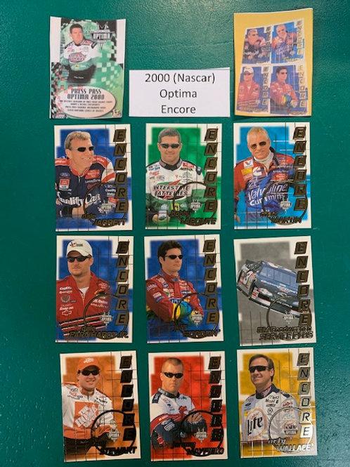2000 Optima Encore 9 Card Set (NASCAR) Box# BB