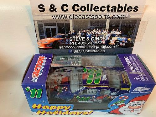 2011 Autographed Sam Bass Christmas Holiday Car / Event Cars 1:64  Shelf# A