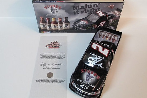 2010 Autographed Stubb's BBQ Truck   / Kevin Harvick 1:24  Wall