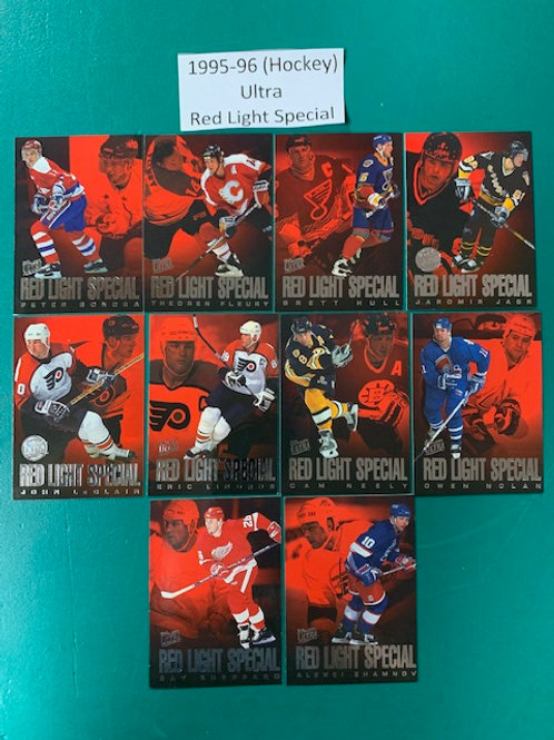 1995-96 Ultra (Red Light Special) 10 Card Set (Hockey) Box# CC