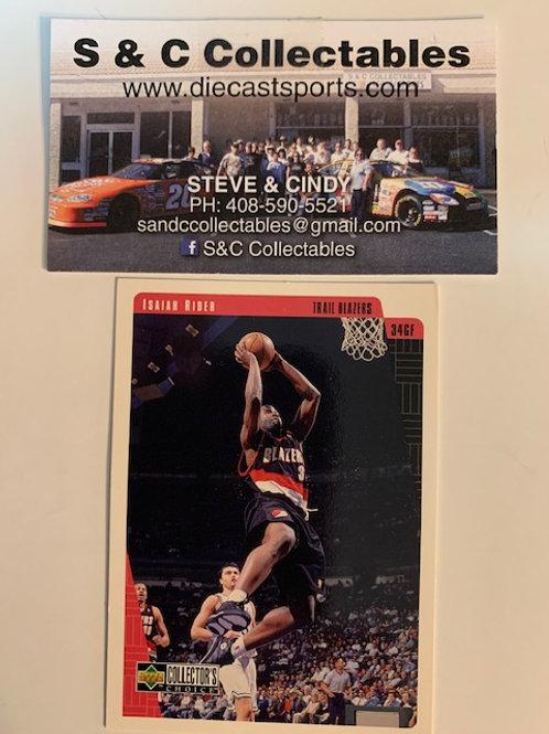 1997-98 Upper Deck Isaiah Rider  Card# 114  / Basketball--BK1