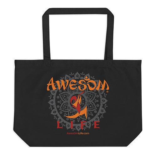 Large AwesOm Life Organic Tote Bag