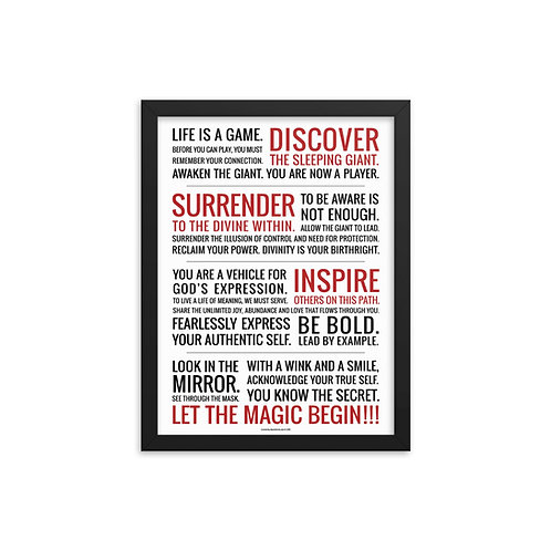 'Life is a Game' Framed Poster