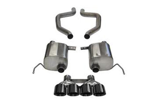 Corsa 15+ Chevy Corvette Z06 3in Axle Back Exhaust, Black Quad 4.5in Tip (Xtreme