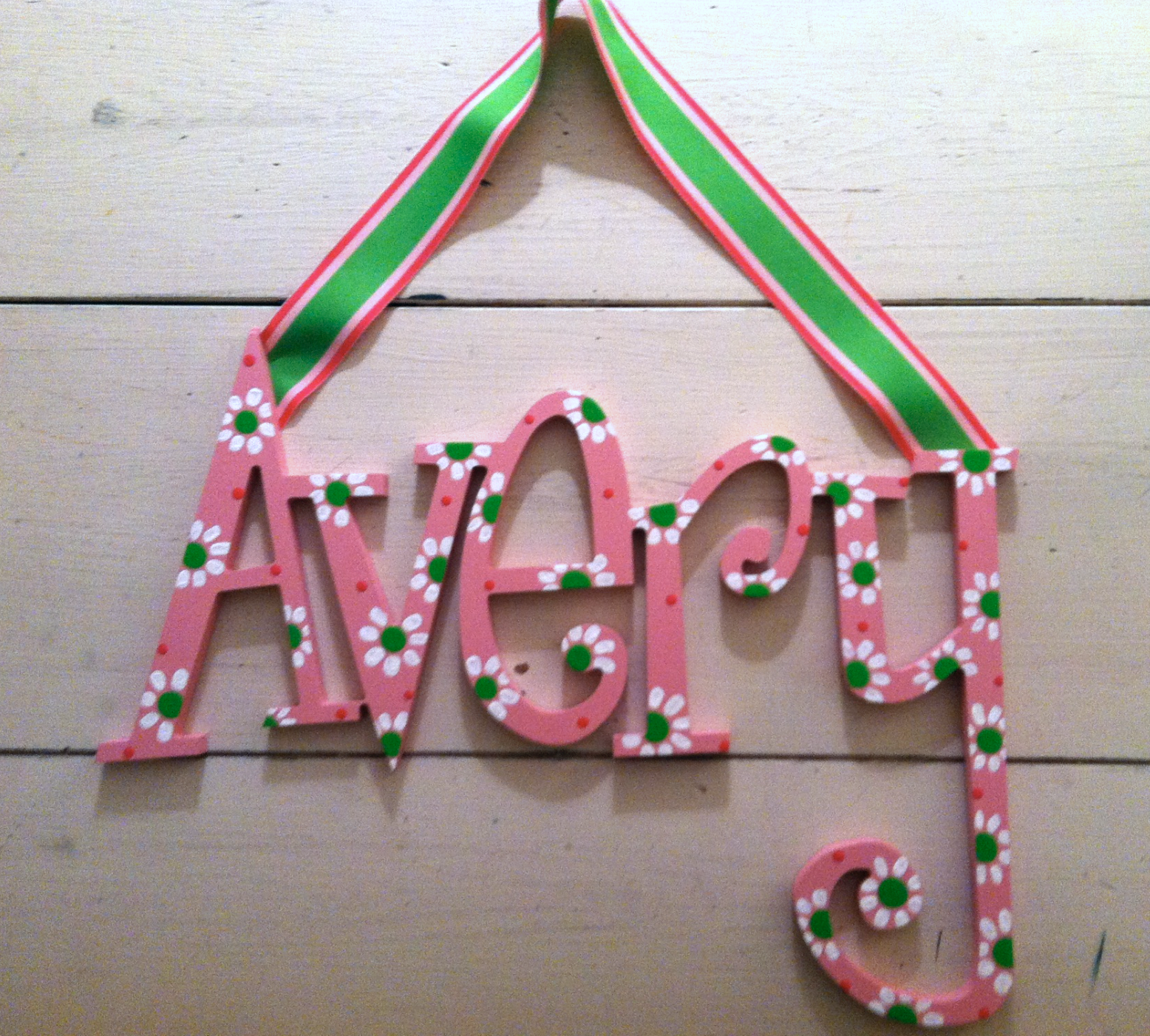"Pink & Green ""Avery"""