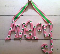 "Pink & Green ""Avery"""