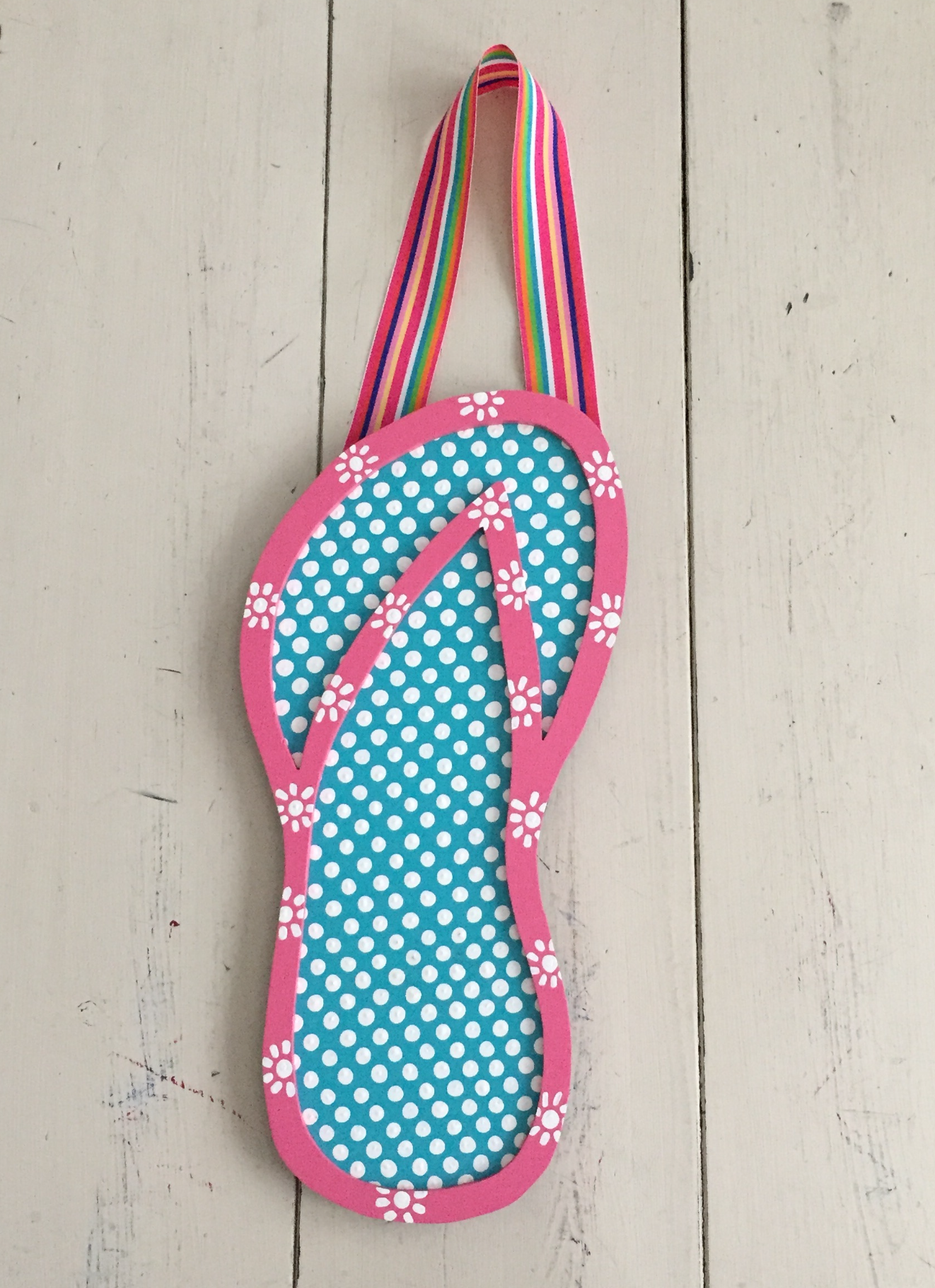 Pink & Turquoise Flip Flop