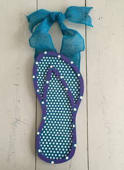 Purple & Turquoise Flip Flop