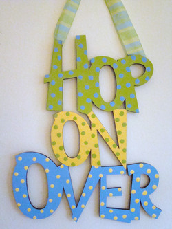 "Blue & Green ""Hop on Over"""
