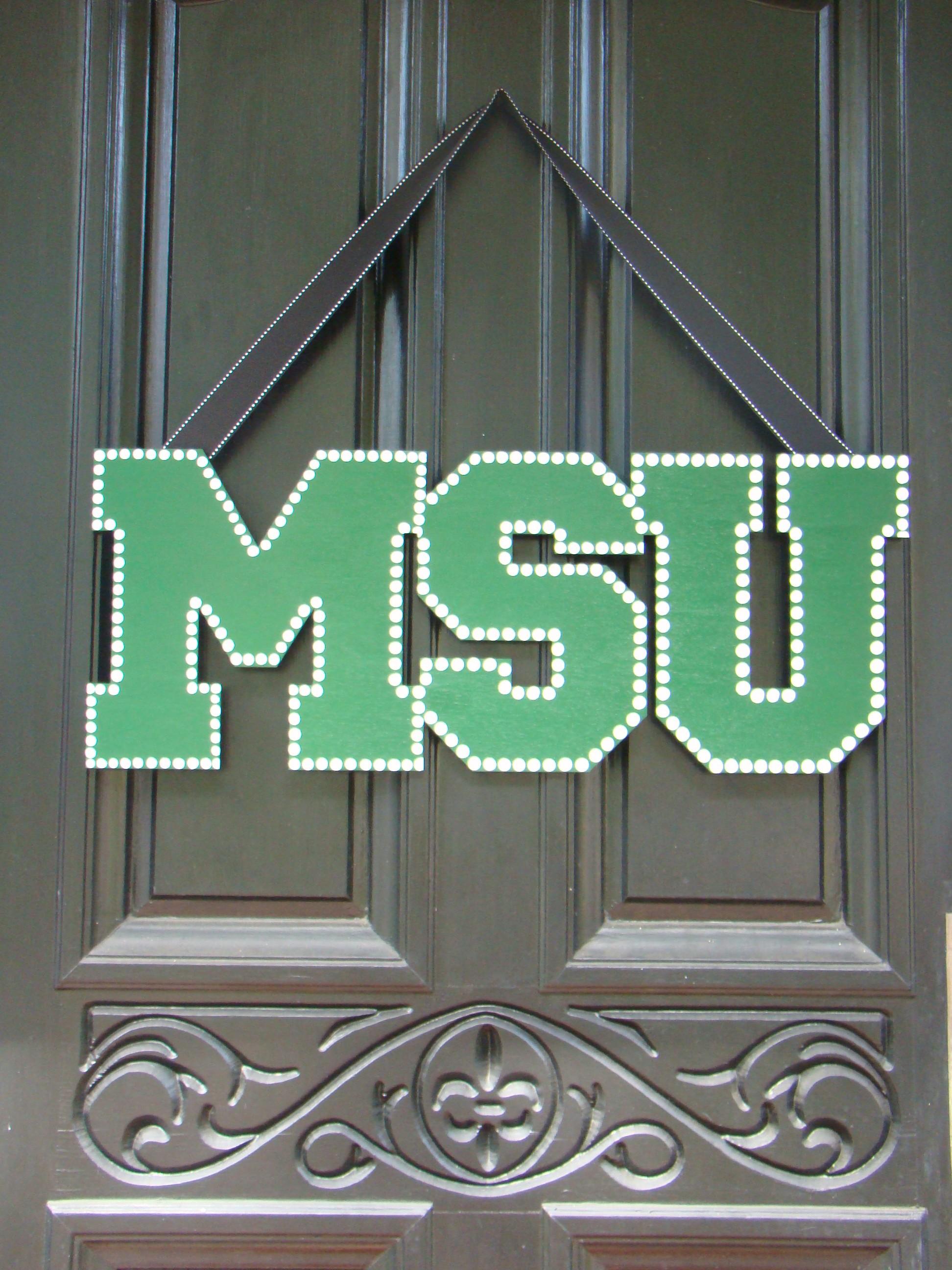 Michigan State Door Sign