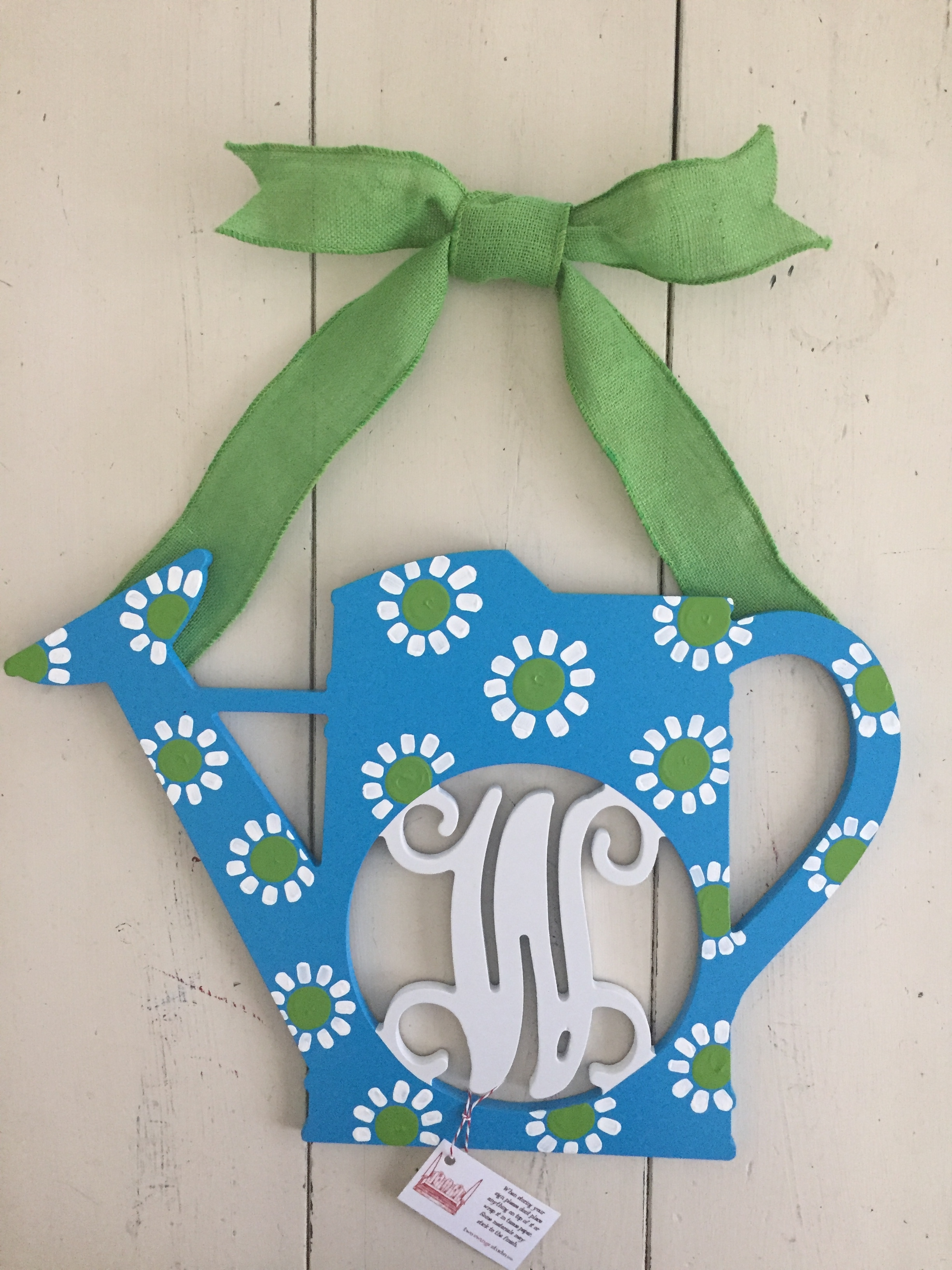 Daisy Watering Can Initial
