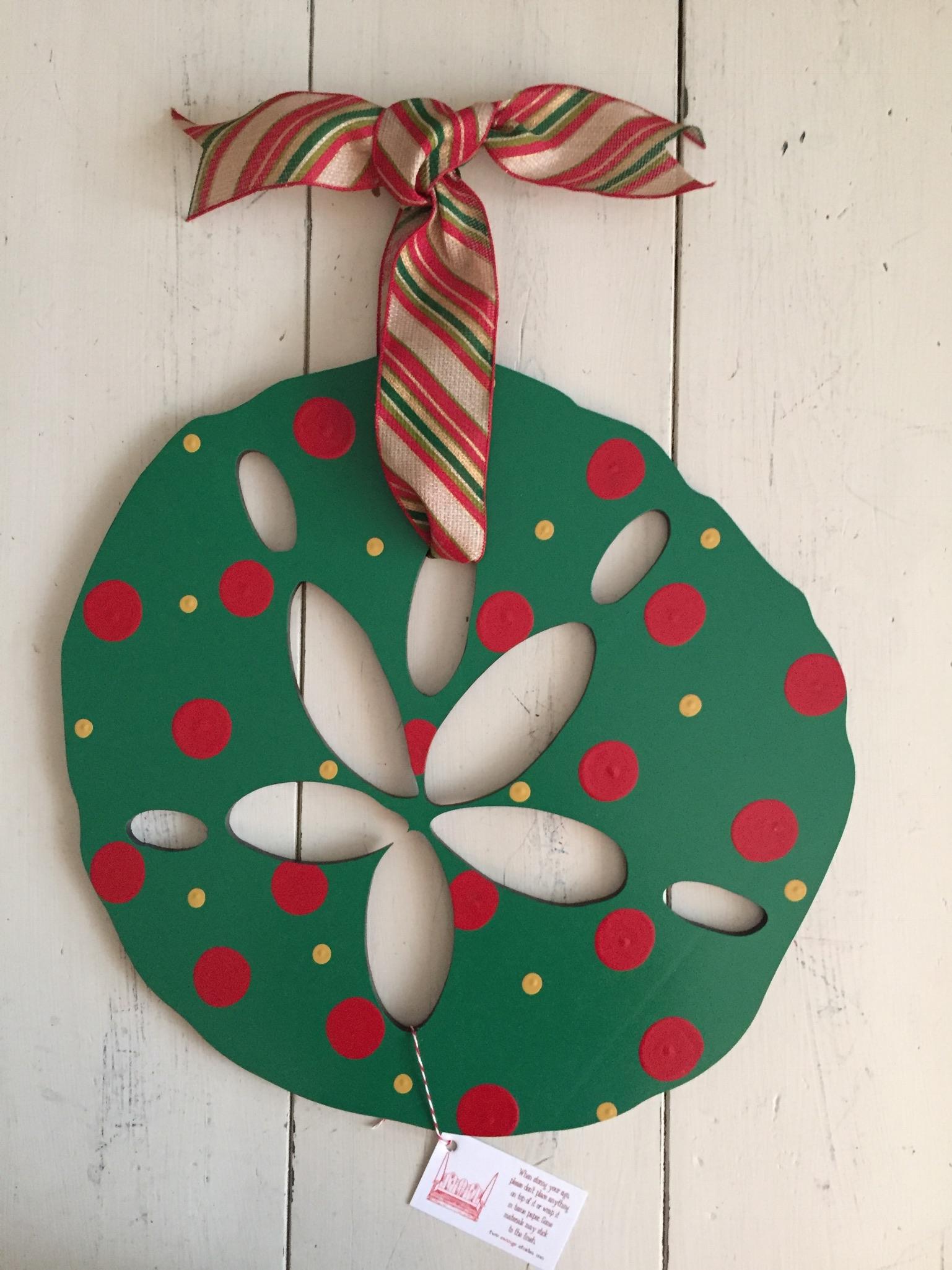 Christmas Polka Sand Dollar