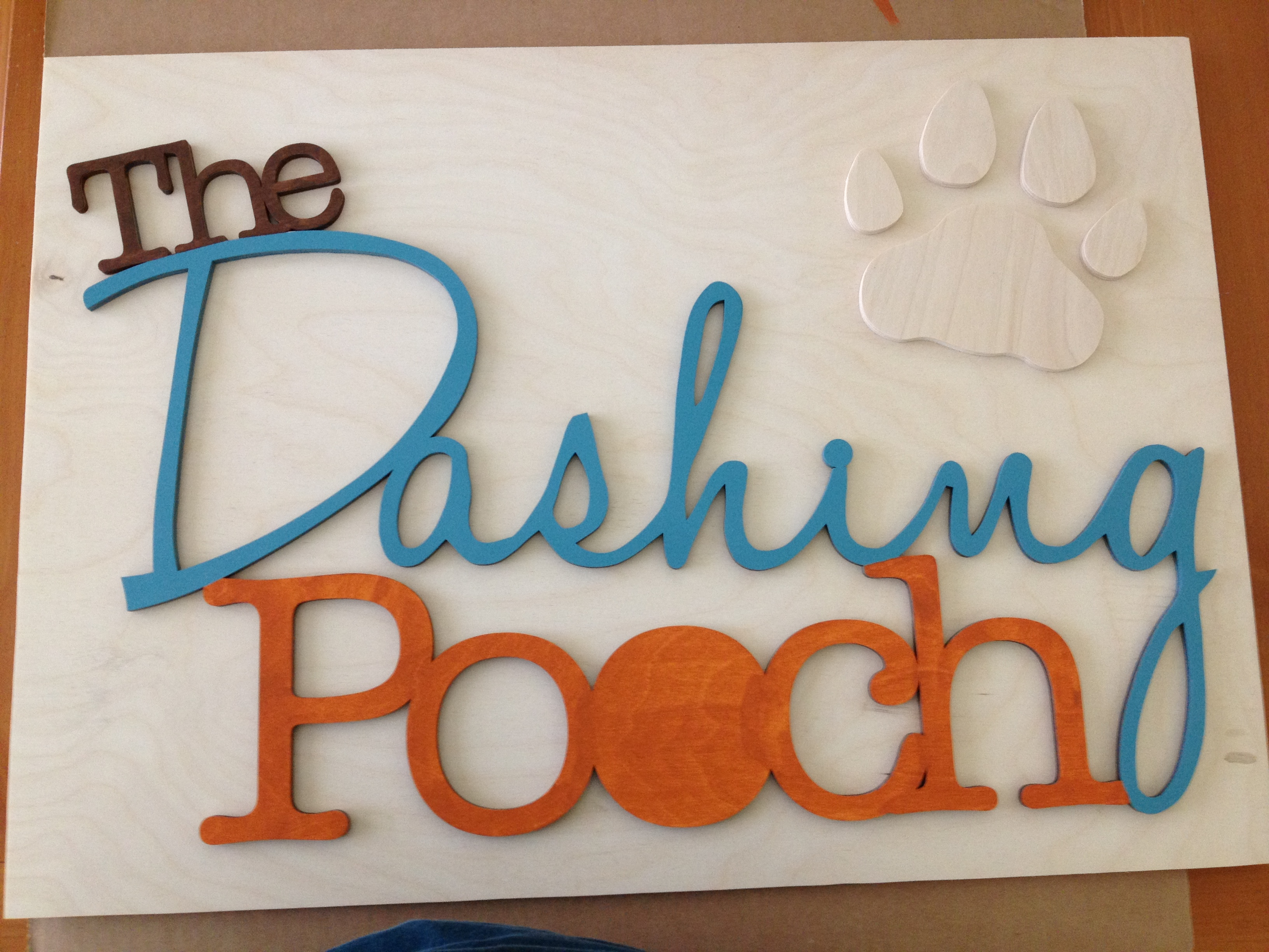 """The Dashing Pooch"" Sign"