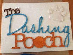 """""""The Dashing Pooch"""" Sign"""