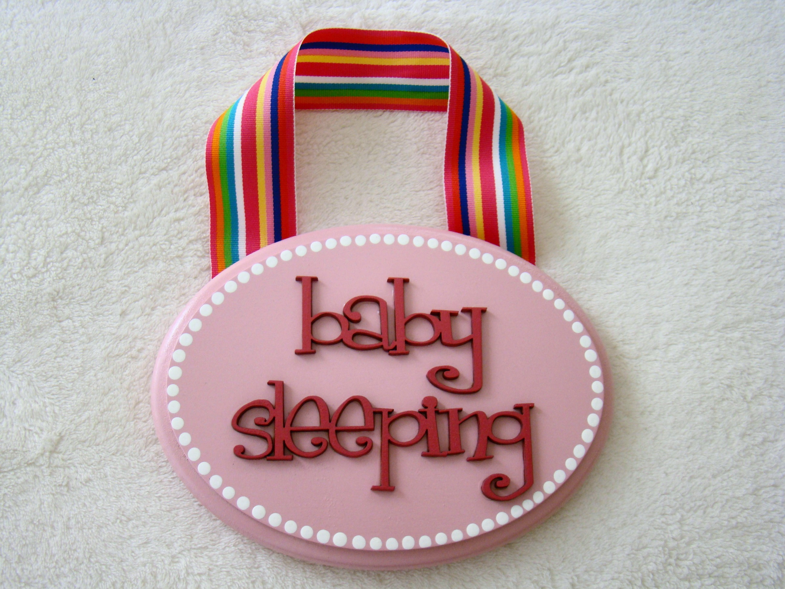 Pink Preppy Baby Sleeping