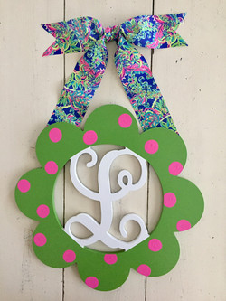 Wide Scalloped Initial