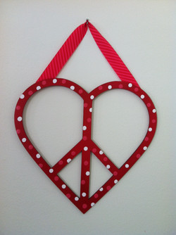 Polka Dot Peace Heart