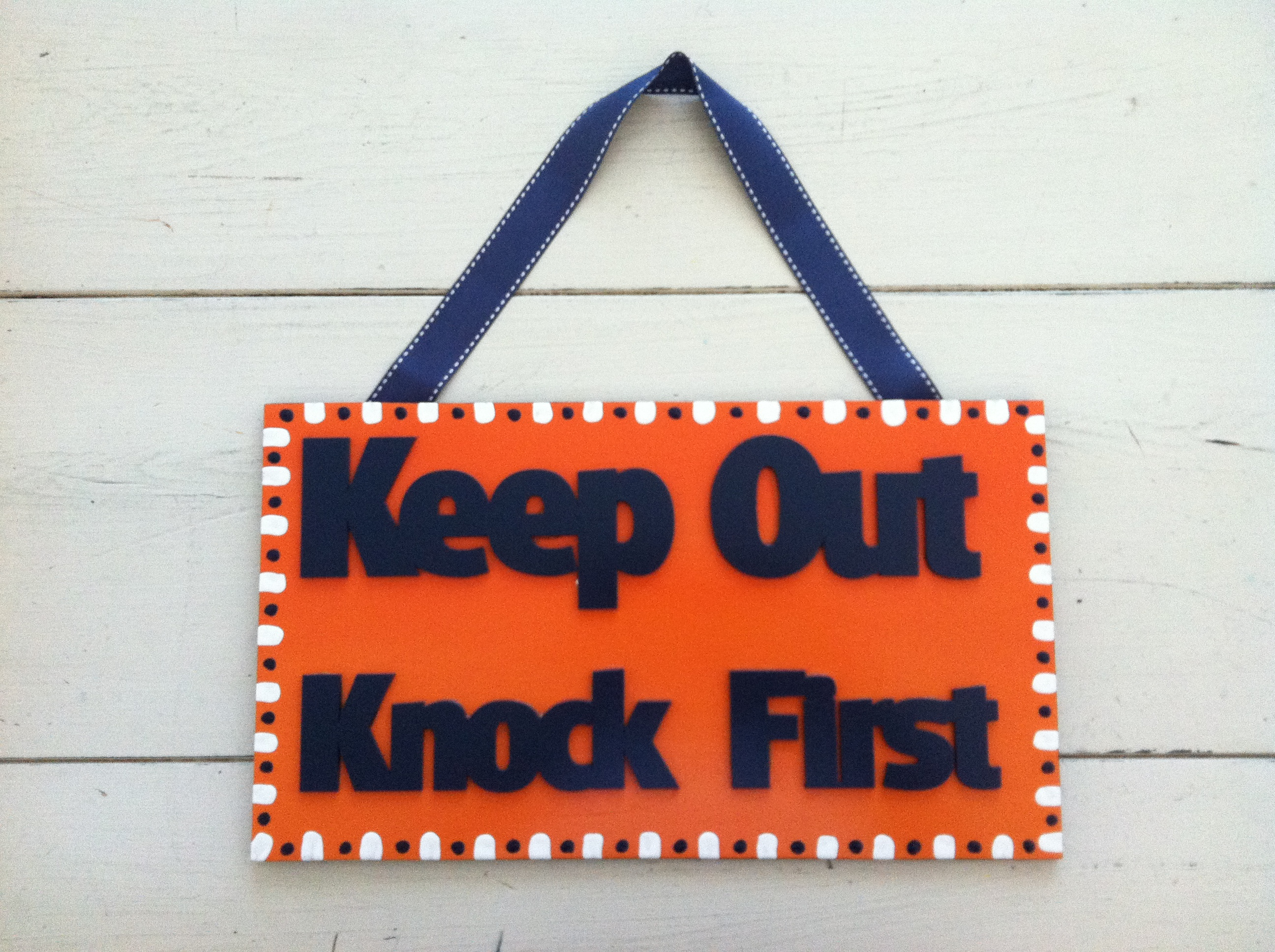 """Keep Out"" Kids Room Sign"