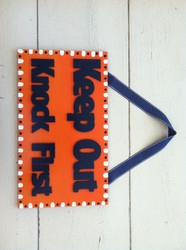 """""""Keep Out"""" Kids Room Sign"""