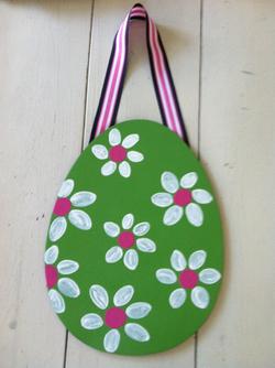 Pink & Green Easter Egg