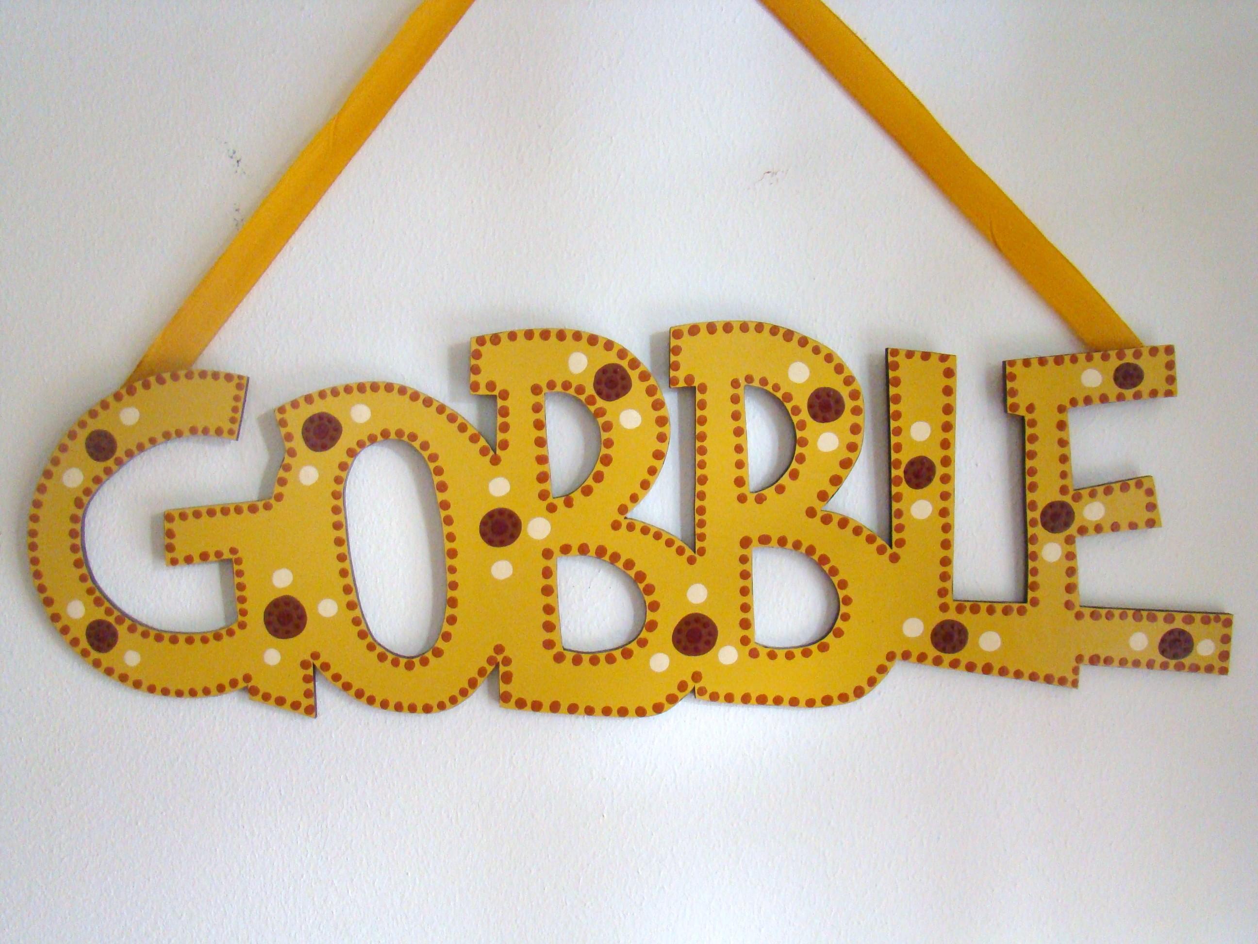"""Mustard Dot """"Gobble"""""""