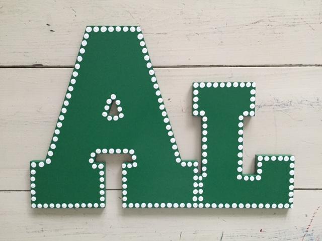 """Green Dot Outline """"Al"""""""