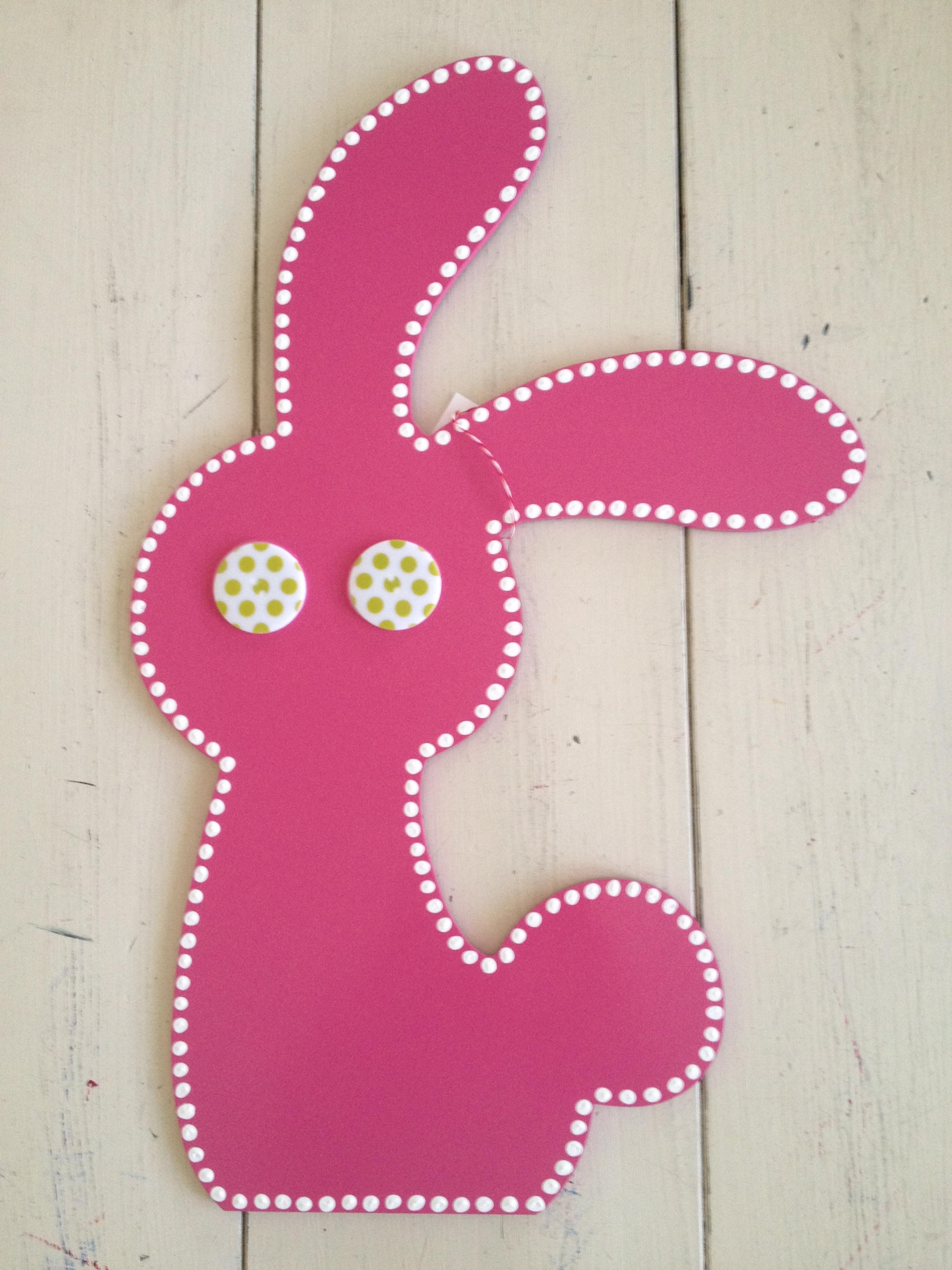 Pink Bunny Dot Eyes