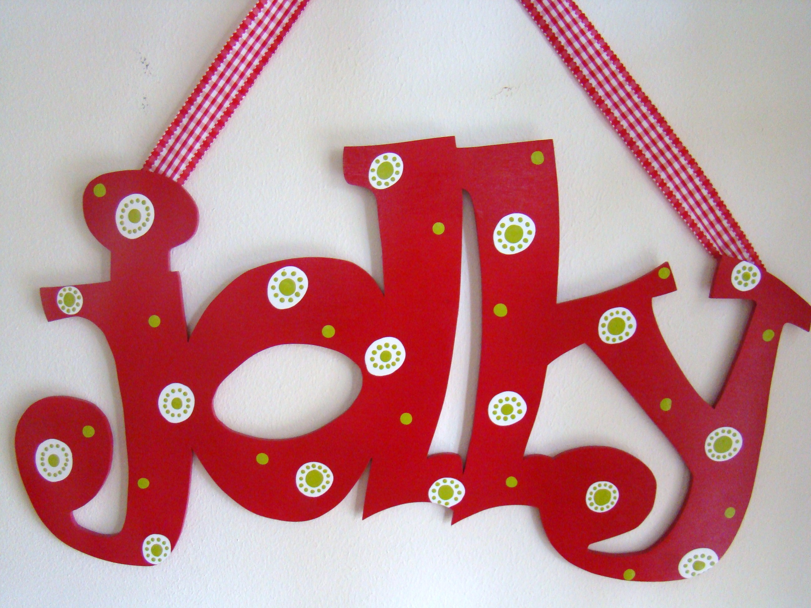 "Red and White Polka ""Jolly"""