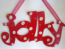 """Red and White Polka """"Jolly"""""""