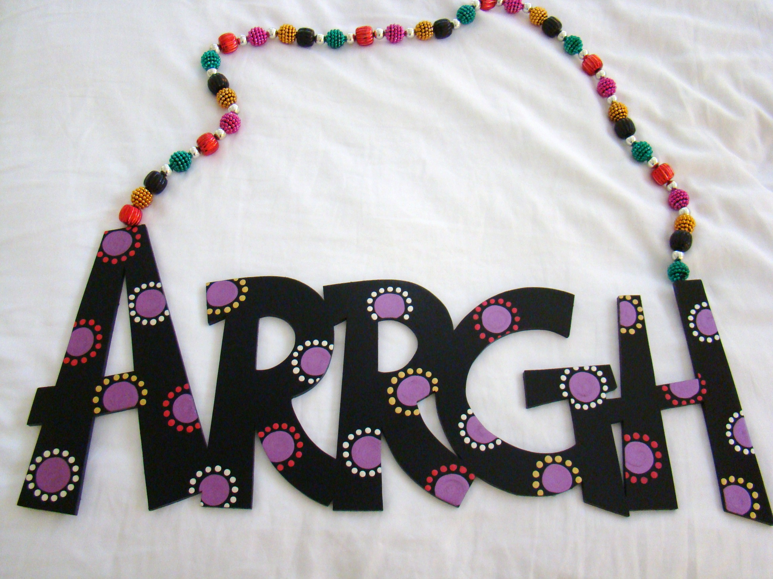 "Black with Purple Multi-Dot ""Arrgh"""