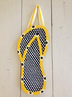 Blue & Yellow Flip Flop