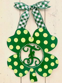 St. Patty's Clover Initial