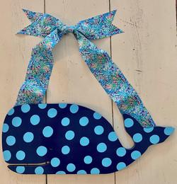 Blue Polka Whale
