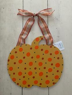 Mustard Dot Pumpkin