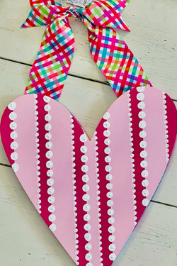 Vertical Stripe and Dot Heart