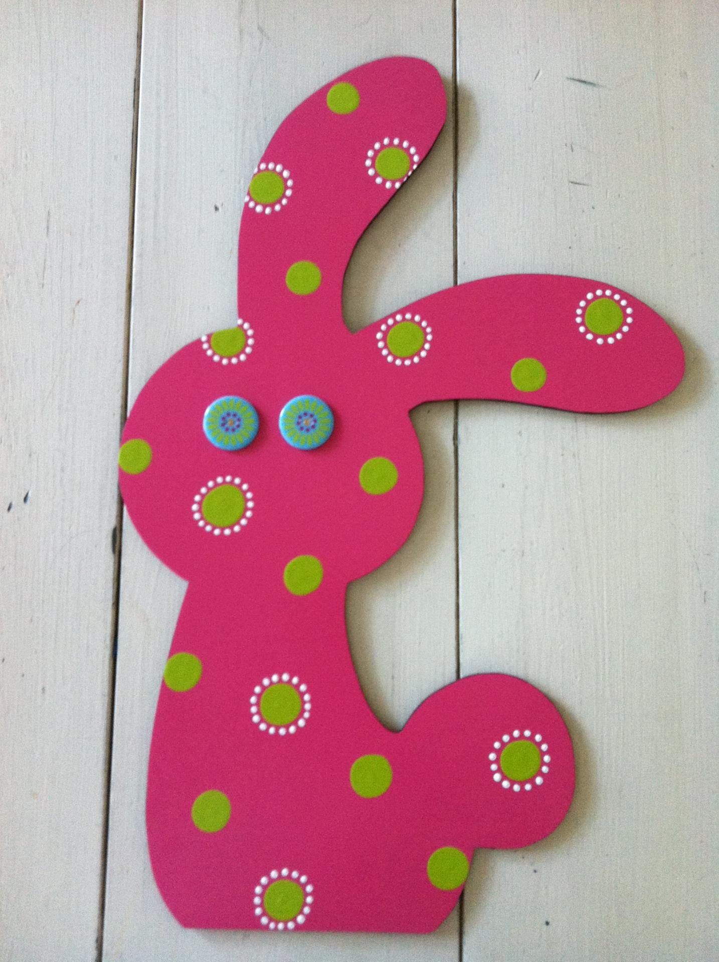 Pink Preppy Bunny