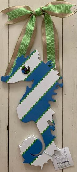 Blue Stripey Seahorse